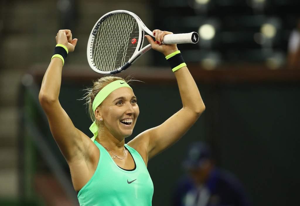 Сочинская теннисистка Елена Веснина впервый раз вкарьере вышла вчетвертьфинал WTA