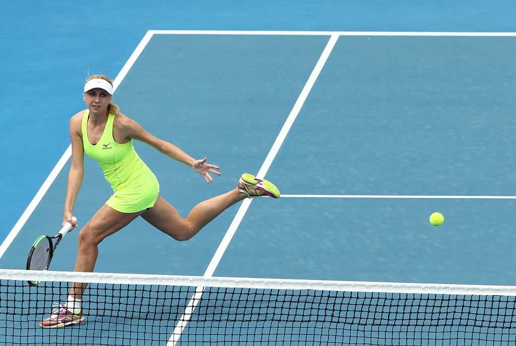 В финал парного турнира Hobart International вырвалась украинская теннисистка Людмила Киченок - кадры напряженного поединка