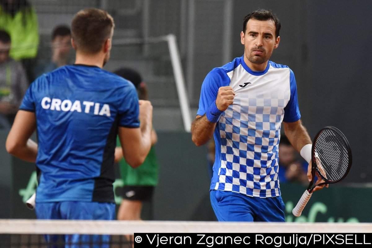 Хорватия: Кукушкин сравнял счет вматче ¼ финала Кубка Дэвиса Казахстан