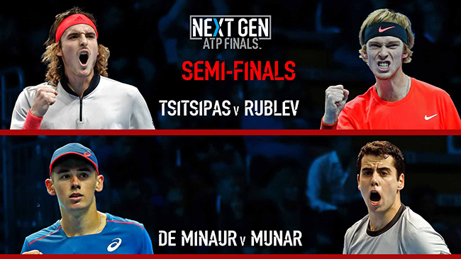Next Gen ATP Finals. Рублев и Мунар продолжают борьбу на турнире
